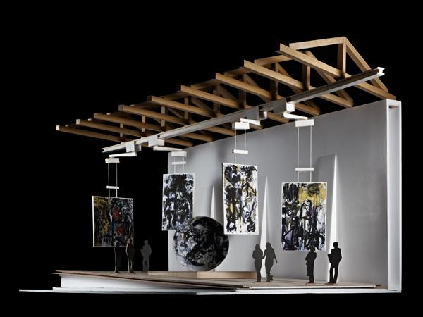 Model of the exhibition space