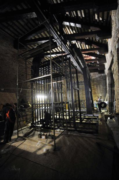 Magazzino del Sale during the restoration